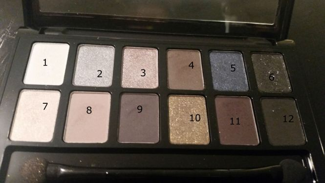 rock palette numbered